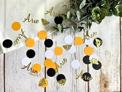 Bumble Bee Confetti Personalized