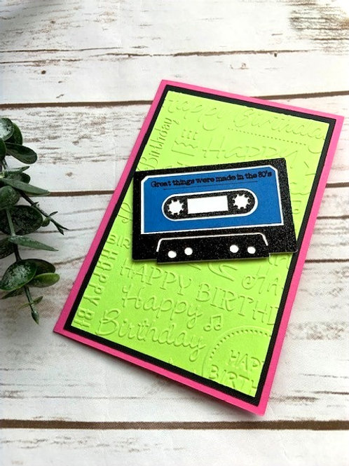 80's Birthday Card