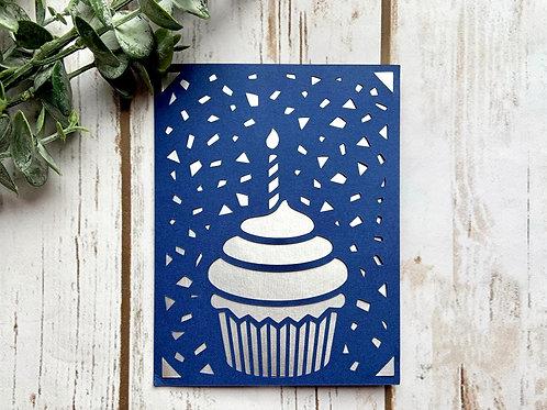 Cupcake and Confetti Card