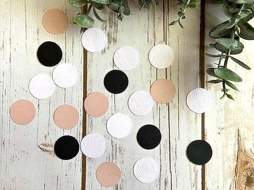 Tri-Color Confetti Circles