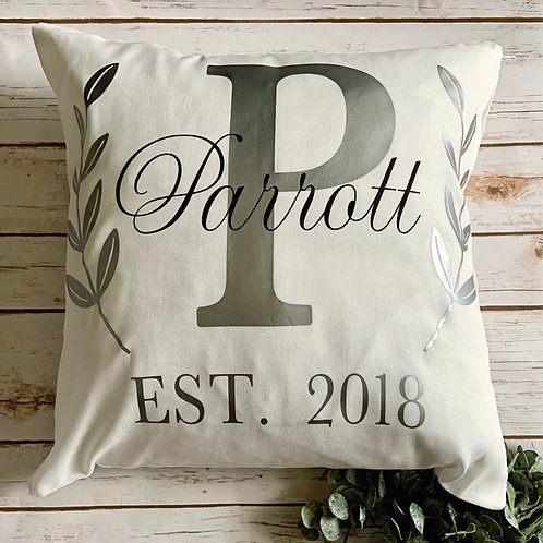 Decorative Monogrammed Pillow