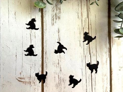 Black Cat, Halloween Confetti