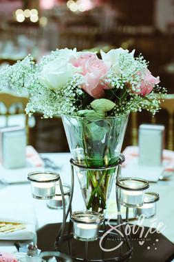 Pink, Ivory, & Champagne Wedding