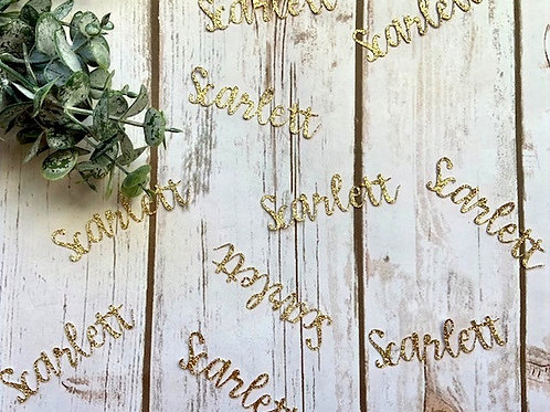 Glitter Personalized Name Confetti