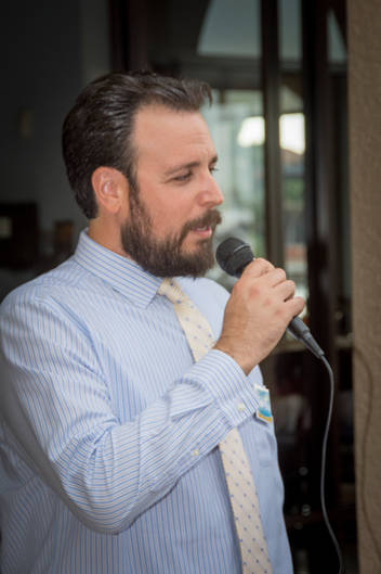 Jared Grifoni speaking at his campaign kickoff
