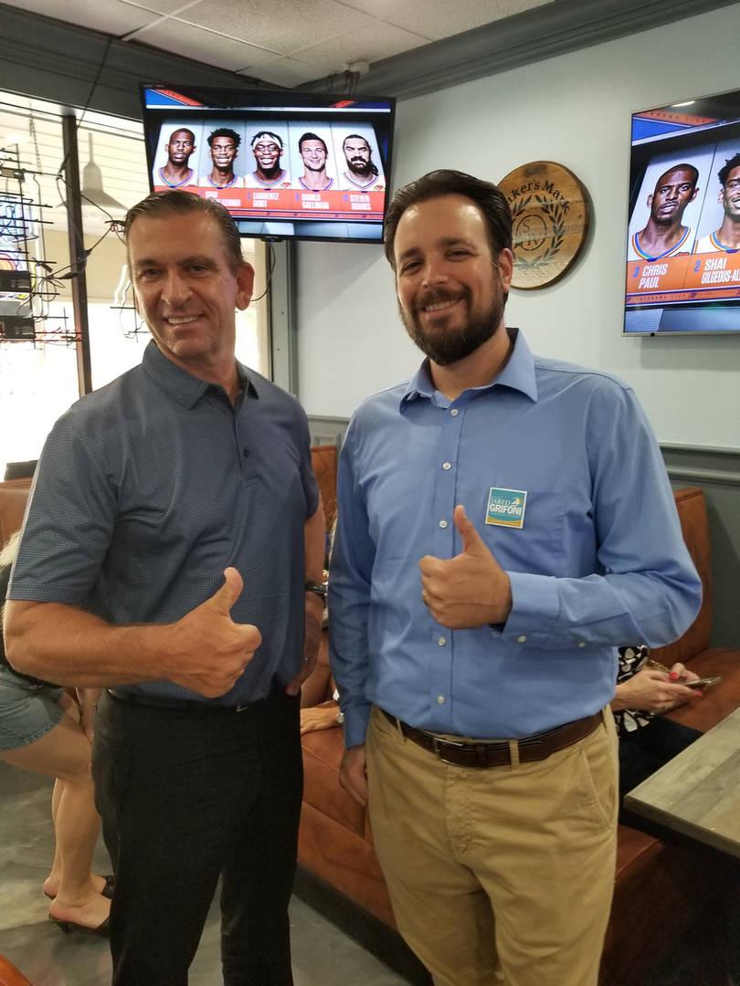 Jared Grifoni with Representative Bob Rommel