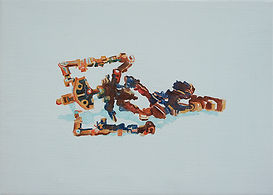 Robot, Painting, oil painting, contemporary painting
