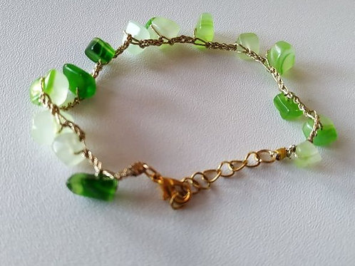 Bracciale Agata Striata Verde