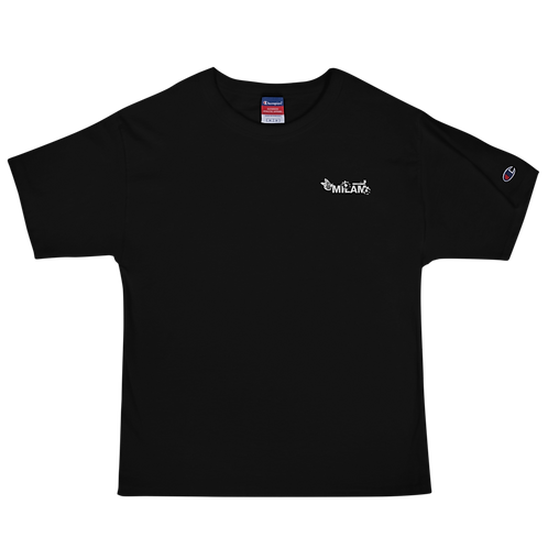 Milam White Embroidered Men's Champion T-Shirt