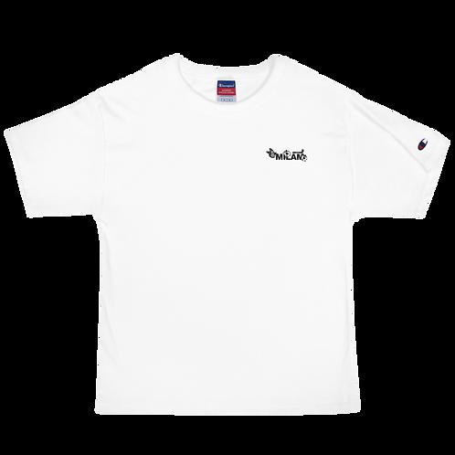 Milam Black Embroidered Men's Champion T-Shirt