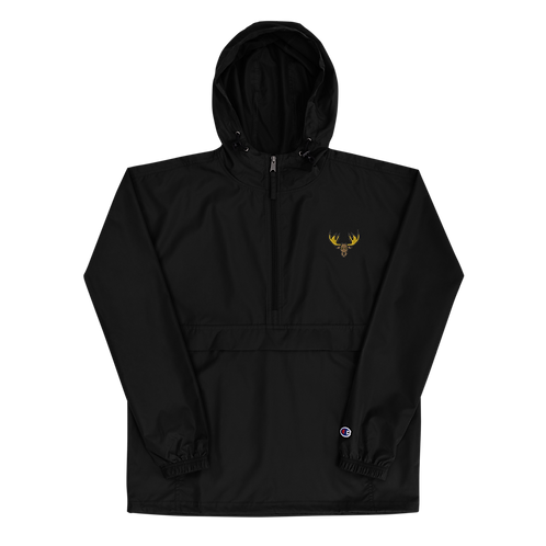 Moose Embroidered Champion Packable Jacket