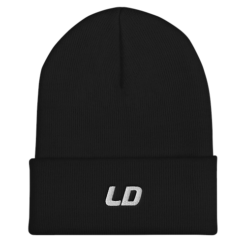 LD Embroidered Cuffed Beanie
