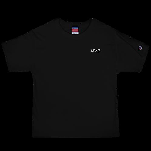 NVE White Embroidered Men's Champion T-Shirt