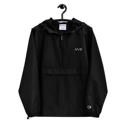 NVE White Embroidered Champion Packable Jacket