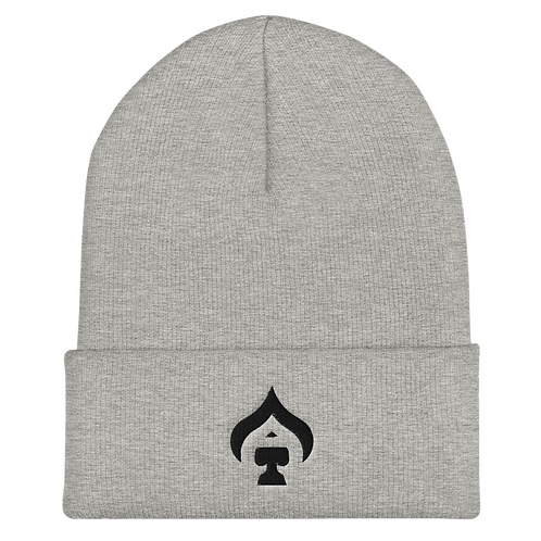 Ace Embroidered Cuffed Beanie