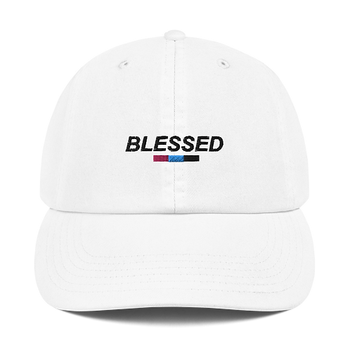Blessed White Champion Dad Cap