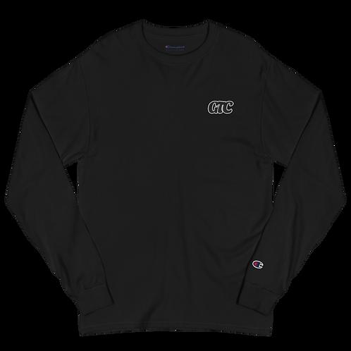 Black GTC Embroidered Men's Champion Long Sleeve Shirt