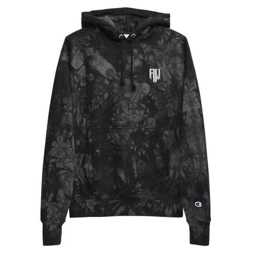 Wither Unisex Champion tie-dye hoodie