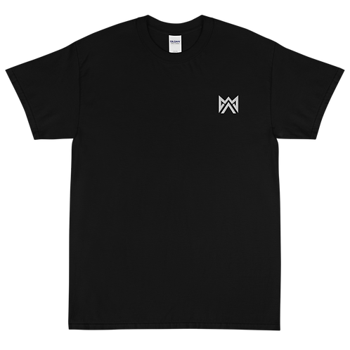 Mayhem White Logo Emrbroidered Short Sleeve T-Shirt
