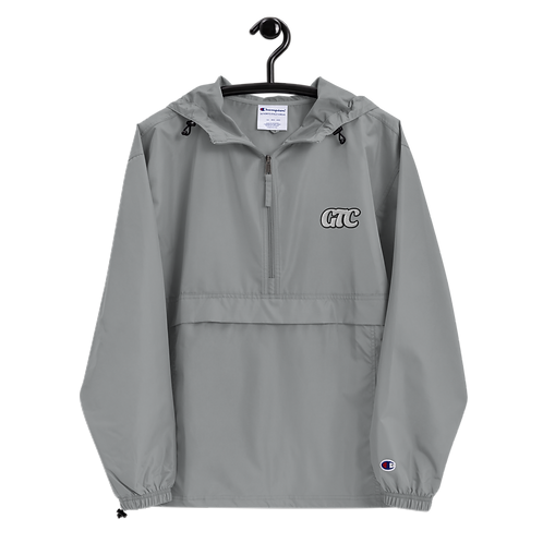 White GTC Embroidered Champion Packable Jacket