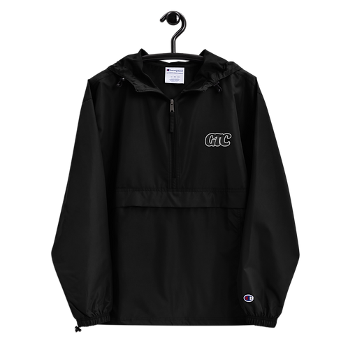 Black GTC Embroidered Champion Packable Jacket