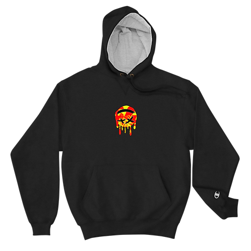 Dood Cave Melted Chest Champion Hoodie