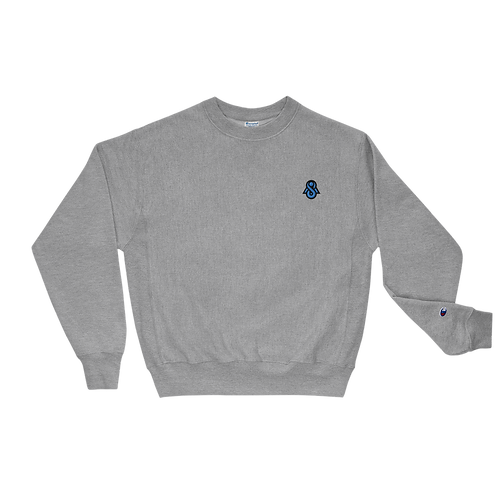 Spectral Blue Embroidered Champion Sweatshirt