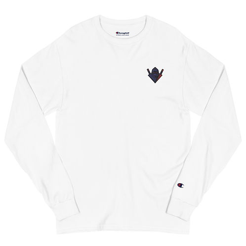 Unknown Embroidered Logo Men's Champion Long Sleeve Shirt