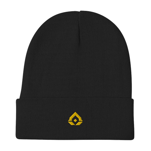 Assence Gold Embroidered Beanie