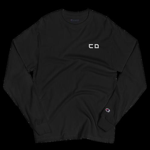 CD Embroidery Men's Champion Long Sleeve Shirt