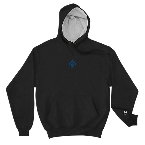 Ace Embroidered Blue Champion Hoodie