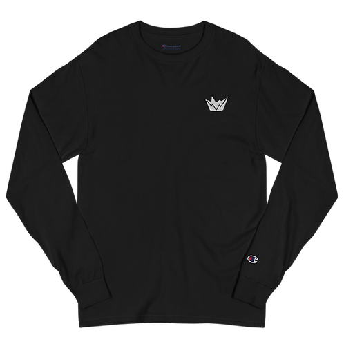 Talent Logo Embroidered  Men's Champion Long Sleeve Shirt