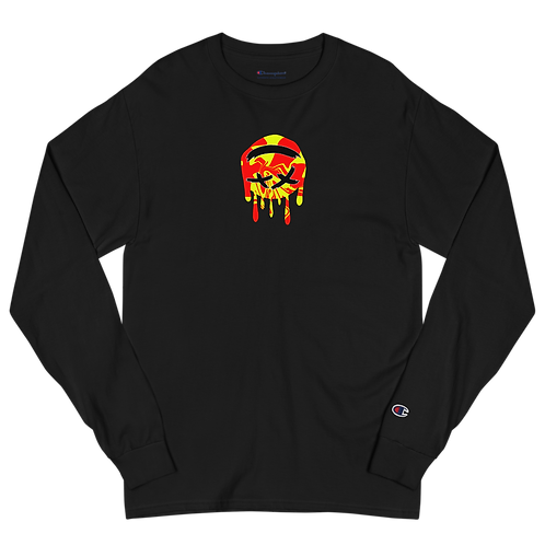Dood Cave Melted Chest Men's Champion Long Sleeve Shirt
