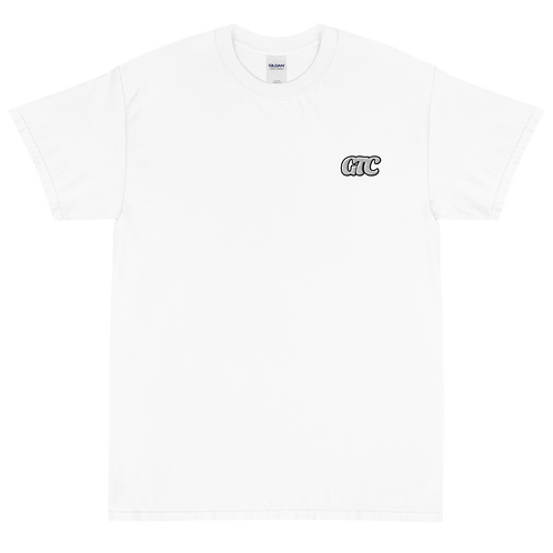 White GTC Embroidered Short Sleeve T-Shirt