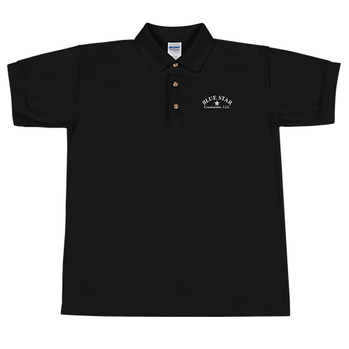 Blue Star Embroidered Polo Shirt