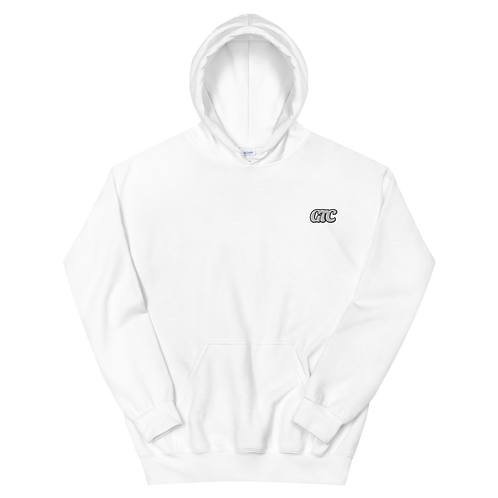 White GTC Embroidered Unisex Hoodie