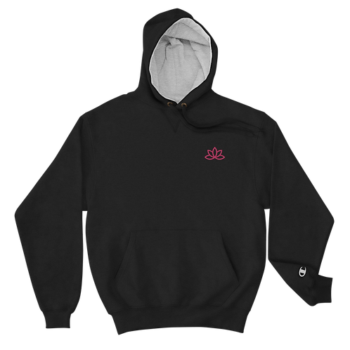 Lotus Pink Embroidered Champion Hoodie