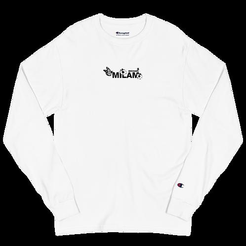 Milam White Men's Champion Long Sleeve Shirt