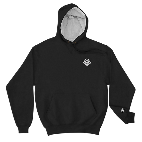 United White Embroidered Champion Hoodie