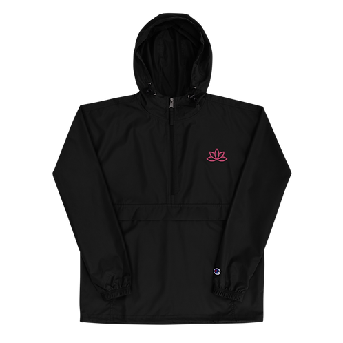 Lotus Pink Embroidered Champion Packable Jacket