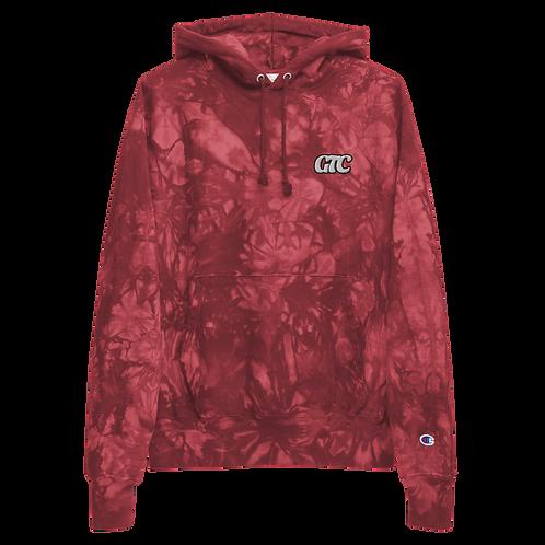 GTC Embroidered Unisex Champion tie-dye hoodie