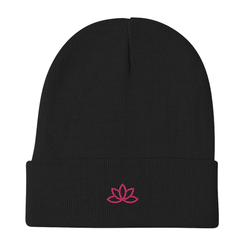 Lotus Embroidered Beanie
