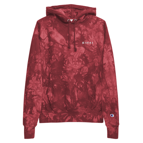 Sinai Text Logo Unisex Champion tie-dye hoodie