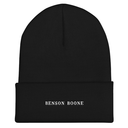 Benson Boone Embroidered Cuffed Beanie