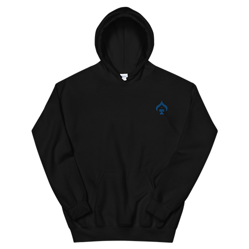 Ace Embroidered Blue Unisex Hoodie