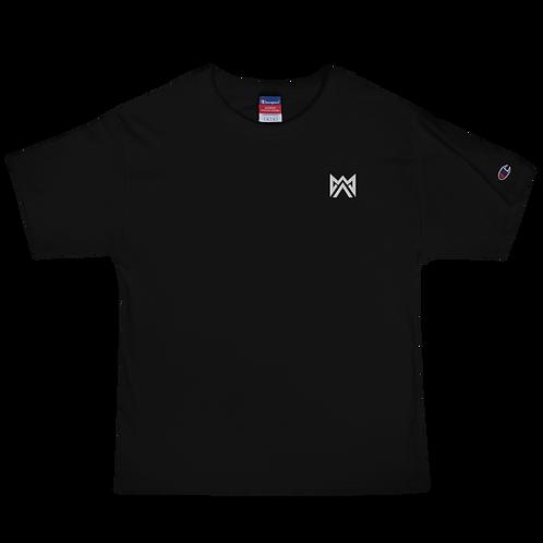 Mayhem White Logo Emrbroidered Men's Champion T-Shirt