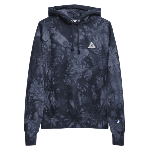 Ace Embroidered Unisex Champion tie-dye hoodie