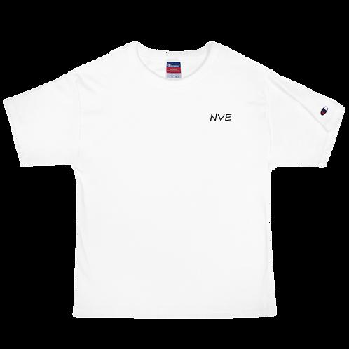 NVE Black Embroidered Men's Champion T-Shirt