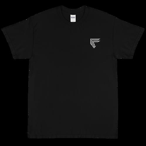 Fresh B & W Embroidered Short Sleeve T-Shirt