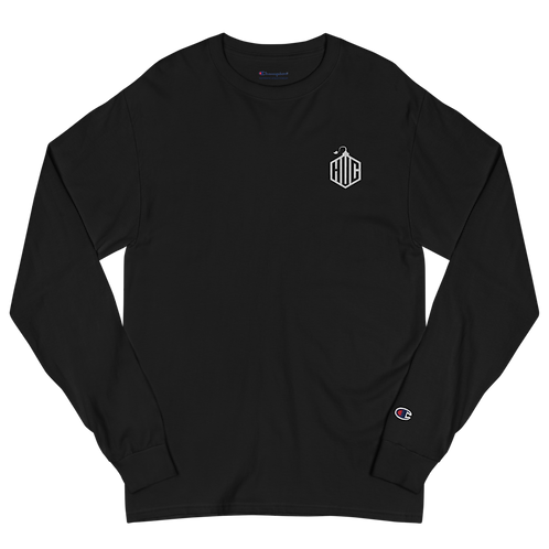 HVC Embroidered Men's Champion Long Sleeve Shirt